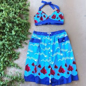 Bettie Page by Tatyana What a Catch Fish Skirt Set